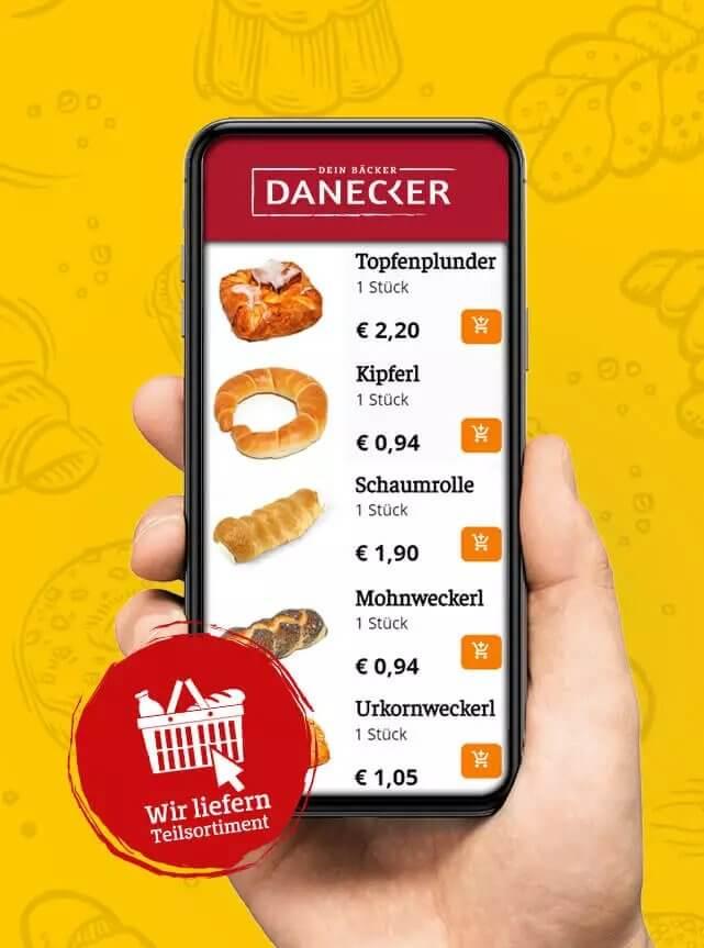 Online Shop Regional Danecker Bäckerei Konditorei Amstetten Bahnhof, Allersdorf, Greinsfurth, Perg, Linz, Wallsee, Aschbach, Mauer
