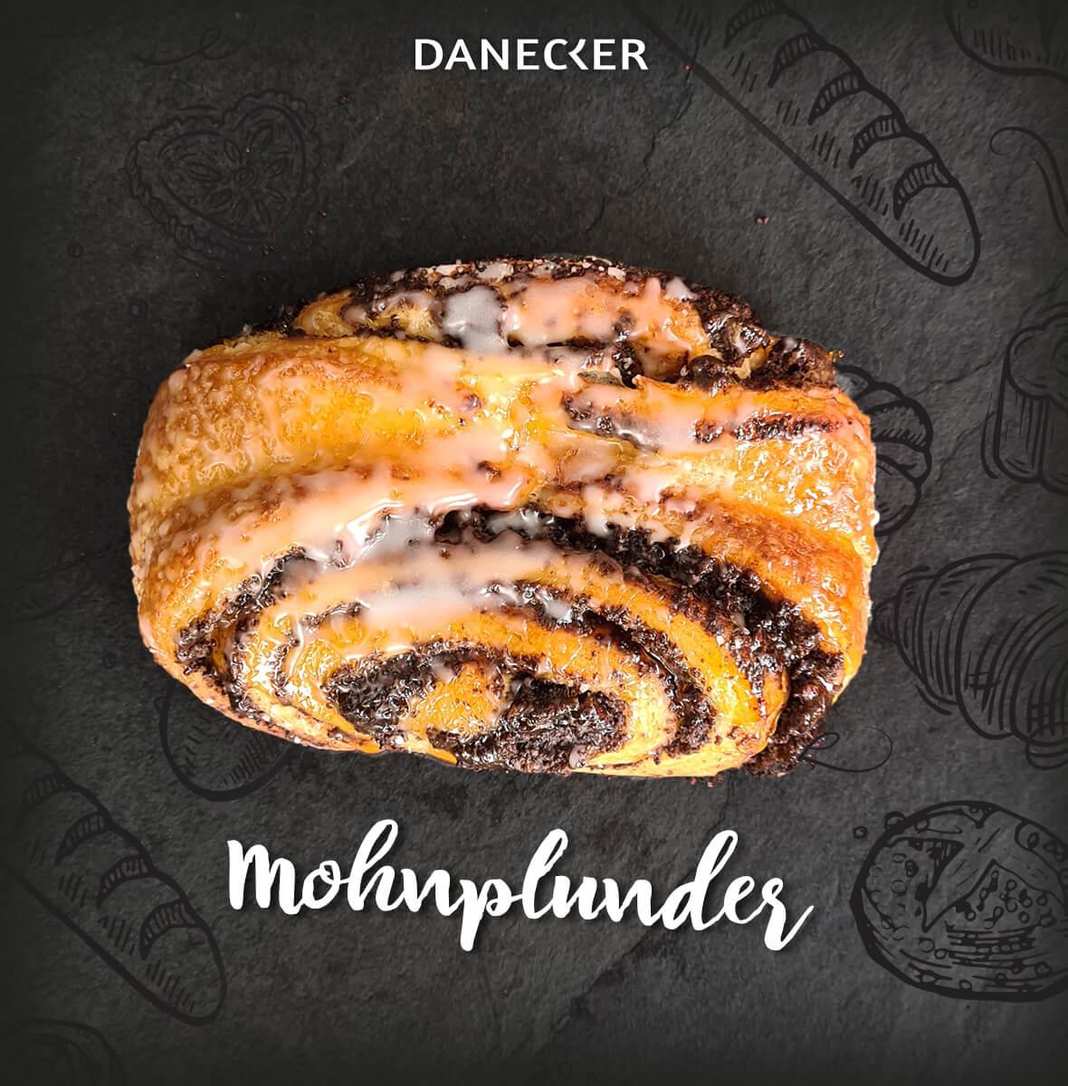 Mohnplunder Mehlspeisen Mohn von Nadlinger Danecker Bäckerei Konditorei Amstetten Bahnhof, Allersdorf, Greinsfurth, Perg, Linz, Wallsee, Aschbach, Mauer