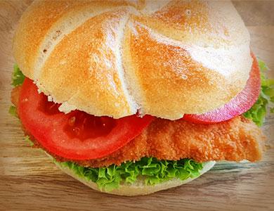 Schnitzelsemmerl Fleisch von Greisinger Snacks Jause Danecker Bäckerei Konditorei Amstetten Bahnhof, Allersdorf, Greinsfurth, Perg, Linz, Wallsee, Aschbach, Maue