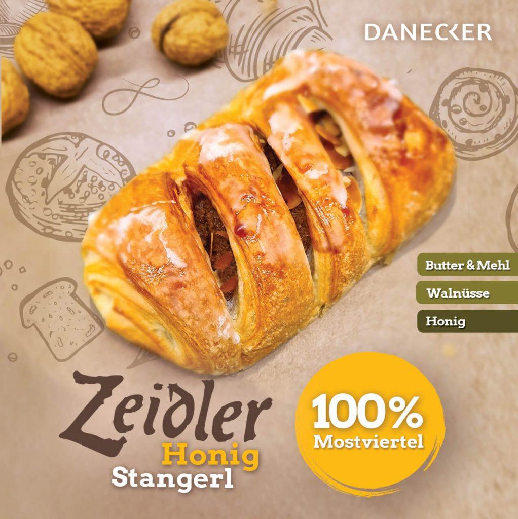 Zeidler Honigstangerl Mehlspeisen Danecker Bäckerei Konditorei Amstetten Bahnhof, Allersdorf, Greinsfurth, Perg, Linz, Wallsee, Aschbach, Mauer