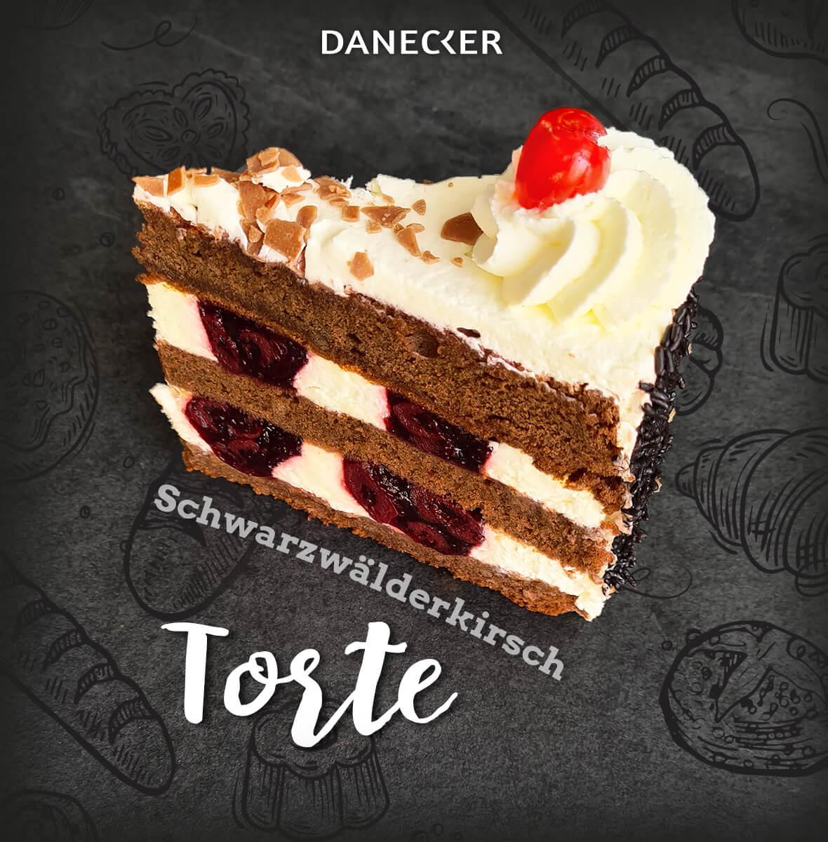 Torten Schwarzwälderkirsch Mehlspeisen Danecker Bäckerei Konditorei Amstetten Bahnhof, Allersdorf, Greinsfurth, Perg, Linz, Wallsee, Aschbach, Mauer