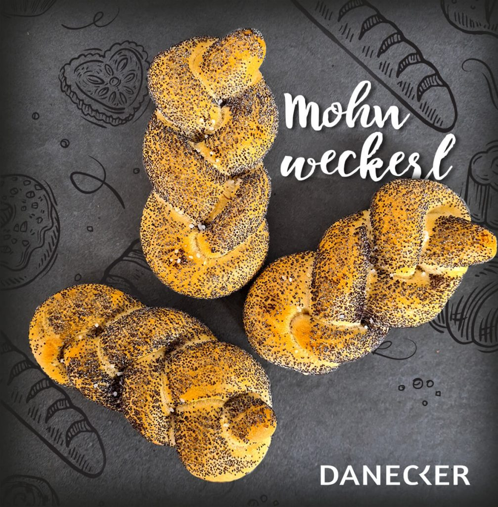 Mohn Gebäck Weckerl Nadlinger regional Danecker Bäckerei Konditorei Amstetten Bahnhof, Allersdorf, Greinsfurth, Perg, Linz, Wallsee, Aschbach, Mauer