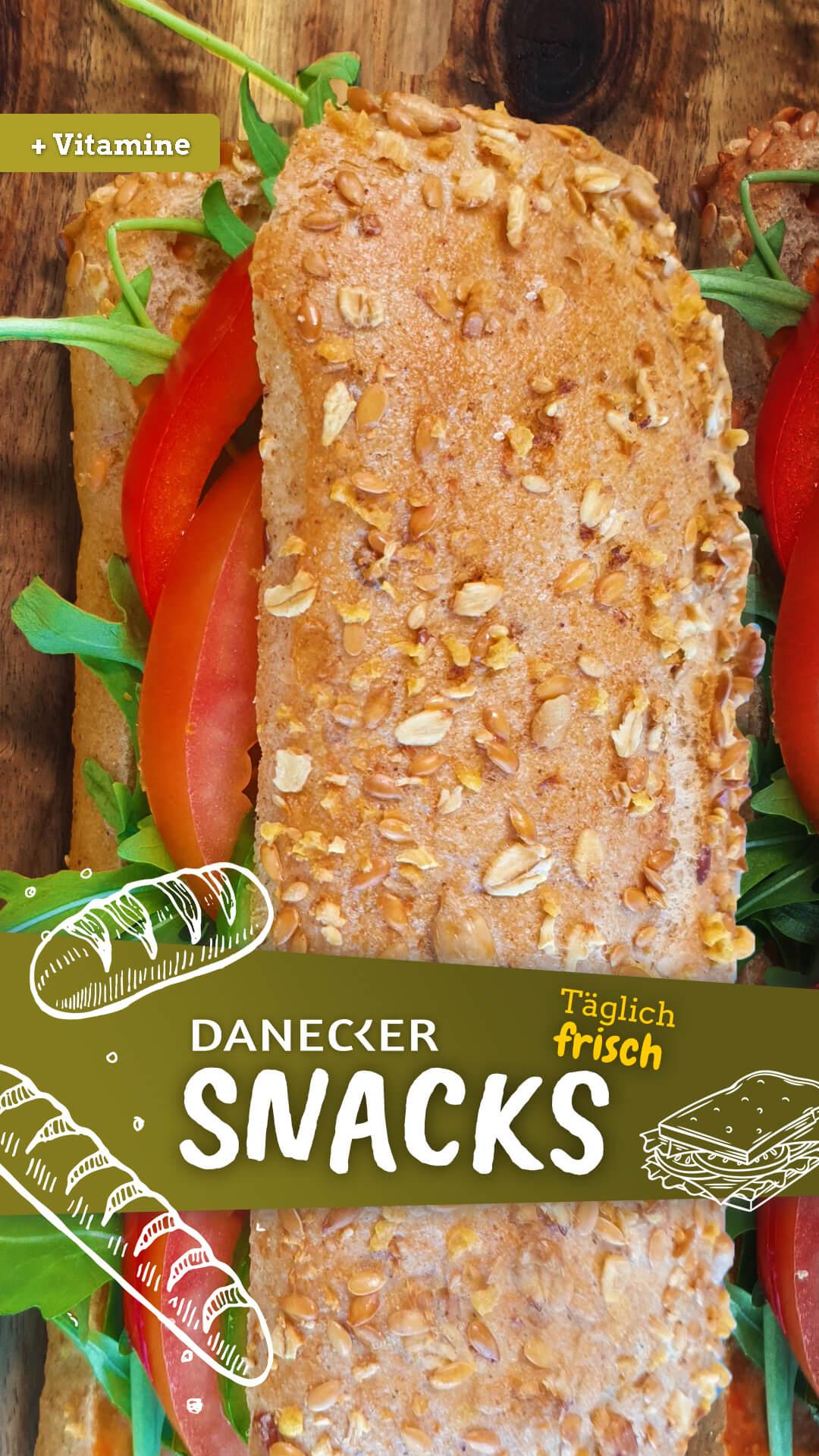 Snacks Jause Danecker Bäckerei Konditorei Amstetten Bahnhof, Allersdorf, Greinsfurth, Perg, Linz, Wallsee, Aschbach, Mauer vegan